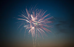 Fireworks in the night sky. Fireworks on the ninth of may Stock Image