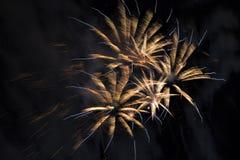 Fireworks on a night sky Royalty Free Stock Photos