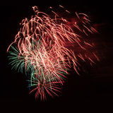 Fireworks in the night sky Stock Photos