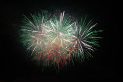 Fireworks in the night sky Royalty Free Stock Photo