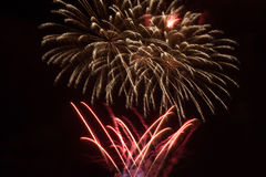 Fireworks in the night sky Royalty Free Stock Photography