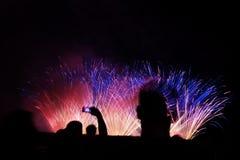 Fireworks on a night sky Stock Image