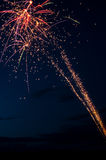 Fireworks on a Night Sky Royalty Free Stock Photos