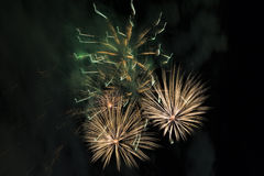 Fireworks on a night sky Stock Image