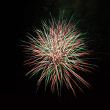 Fireworks in the night sky Stock Image