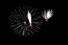Fireworks during Night Time Royalty Free Stock Images