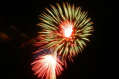 Fireworks Nightscape at Ruth Fischer School Royalty Free Stock Photography