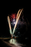Fireworks in Noli Stock Image