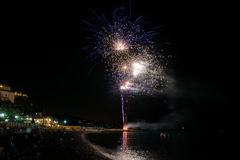 Fireworks in Noli Royalty Free Stock Image