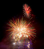 Fireworks on November 5th Guy Fawkes Night Royalty Free Stock Photo