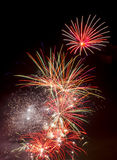 Fireworks on November 5th Guy Fawkes Night royalty free stock image
