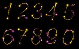 Fireworks numbers Stock Photo