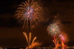 Fireworks NYC Stock Photo