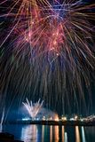Ognina catania sicilia travel fireworks. Fireworks on the occasion of the feast for the Madonna of each religious holiday in Catania, Italy Royalty Free Stock Image