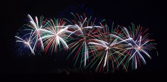 Fireworks On Carcassonne Festival Of 14 July 2012 Royalty Free Stock Photo