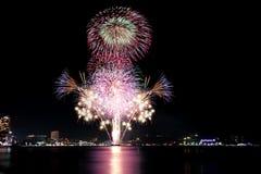 Fireworks Or Firecracker In Pattaya,Thailand. Stock Photo