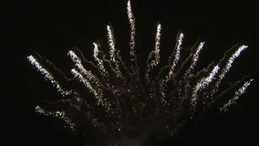 Fireworks ornaments stock video footage