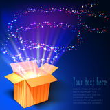 Fireworks out of the box. Can be used as background for greeting cards and presentations Royalty Free Stock Images