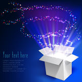 Fireworks out of the box Royalty Free Stock Photos