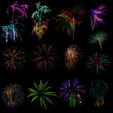 Fireworks out of focus Royalty Free Stock Photo
