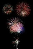 Fireworks over Black Royalty Free Stock Photos