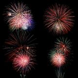 Fireworks over Black Royalty Free Stock Photo