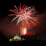 Fireworks over Brno Stock Image