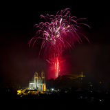 Fireworks over Brno Royalty Free Stock Images