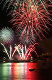 fireworks over budapest Stock Photography