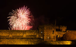 Fireworks Over Carlisle Castle Stock Photography