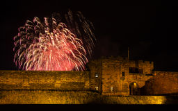 Fireworks Over Carlisle Castle Royalty Free Stock Photography