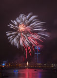 Fireworks over the city Stock Image