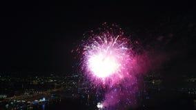 Fireworks over the Delaware River Philadelphia Pennsylvania Grand Finale stock footage
