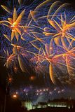 Fireworks over Edinburgh Castle, Scotland, Europe royalty free stock photography
