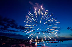 Fireworks over Feodosia Royalty Free Stock Image