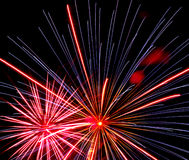 Fireworks Over Iowa Royalty Free Stock Image