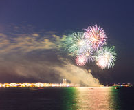 Fireworks Over Lake Michigan Stock Image