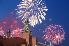 Fireworks over the Moscow Kremlin, Russia Stock Photography