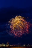 Fireworks over Neva royalty free stock images