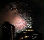 Fireworks over New York City Stock Images