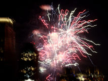 Fireworks over New York City Royalty Free Stock Image