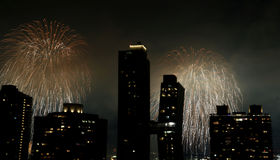 Fireworks over New York City Royalty Free Stock Photo