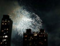 Fireworks over New York City Stock Photos