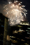Fireworks over New York City Royalty Free Stock Images