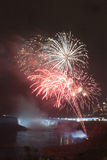 Fireworks over Niagara Falls Royalty Free Stock Photo