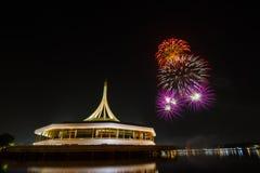 Fireworks over night sky Stock Photo
