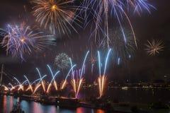 Fireworks over Riga Royalty Free Stock Photo