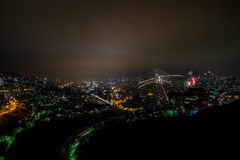 Fireworks Over Sarajevo Royalty Free Stock Images