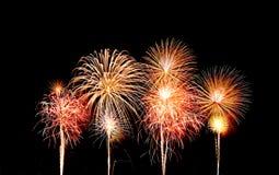 Fireworks over sky Stock Photos