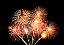 Fireworks over sky Stock Photography